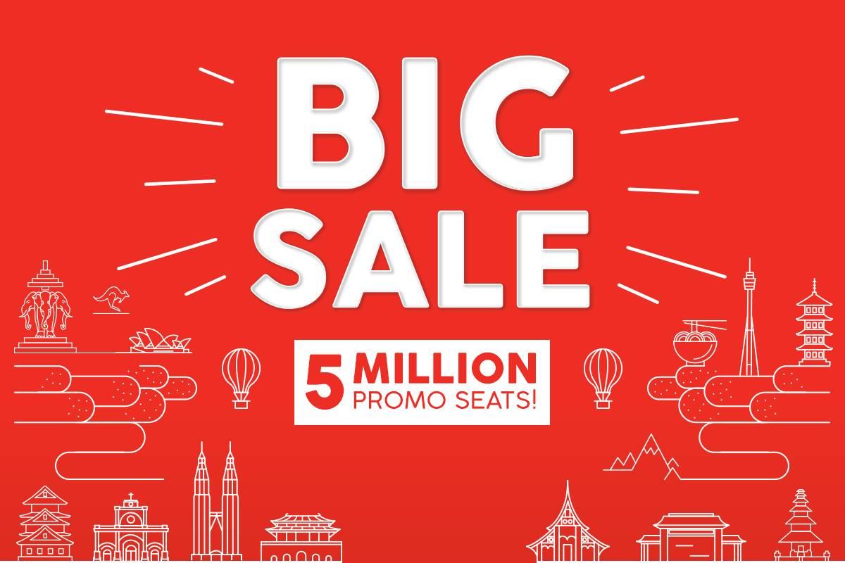 Air Asia - большая распродажа на 5 миллионов мест!